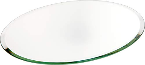 Plymor Oval 3mm Beveled Glass Mirror, 7 inch x 9 inch ()