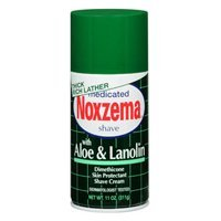 Noxzema Shave Cream Aloe and Lanolin 11 Oz (Pack of 3)