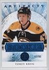torey-krug-63-85-hockey-card-2012-13-upper-deck-artifacts-base-blue-155