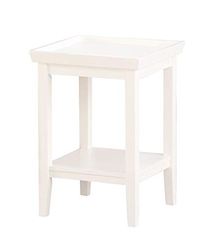 Convenience Concepts End Table, White