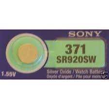Price comparison product image Sony 371 SR921SW Single Silver Oxide Battery