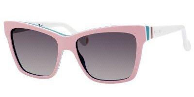 Gucci Sunglasses - 5006 C / Frame: Pink White Aqua Lens: Dark Gray Gradient