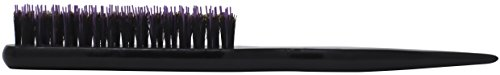 Spornette Little Wonder Boar & Tourmaline Nylon Bristle Teasing Brush (#111 PURPLE) with Tail Handle for Back Brushing, Back Combing, Creating Volume, Teasing and Slicking Your Hair Back
