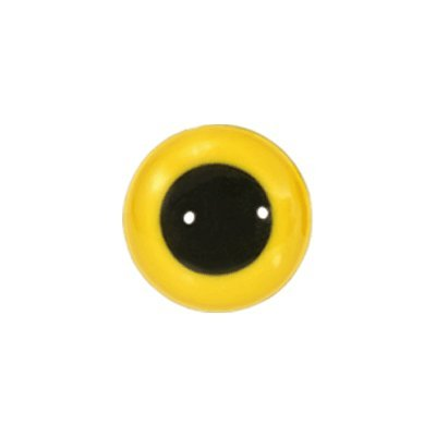 Eyes Animal Yellow - Animal Eyes with Black Centers & Metal Washers 12mm Yellow 12pcs/pkg
