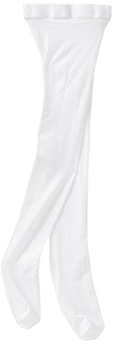 Danskin Big Girls' Microfiber Footed Tight,White,M (8/10)