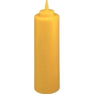 Squeeze Bottle Yellow - 8oz - Ideal for Sauce Ketchup Mustard Mayonnaise Oil Vinegar Salad Dressing