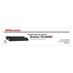 Office Depot(R) Brand 2060 Black Thermal Fax Ribbon Replacement for (Brother Pc-402Rf) Pack Of 2
