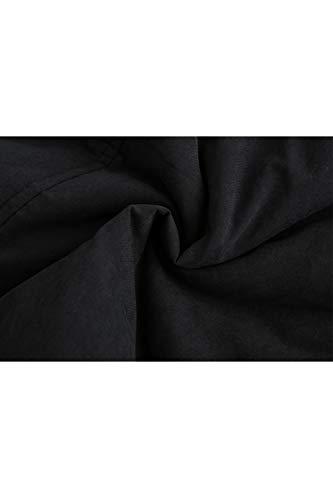 Nero Fleece Con Tasca Donne Spessa Con Cappuccio Outwear Giacca Zip Full vwPx7ZFq