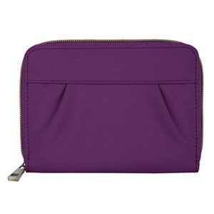 The Best Travelon Signature RFID Pleated Passport Wallet, Purple-42961-150 - You always want to protect your identity, no matter where you are, so do it with the Travelon Signature RFID Pleated Passport Wallet. Important documents such as your passport, credit cards, key cards, and drivers license all contain RFID chips that broadcast your personal information. This wallet blocks the transmission of this information, preventing unauthorized access by others. Ideal for every