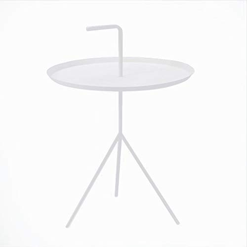 - L-Life End Tables Side Table Metal End Table Side Table Coffee Table,Easy Assembly Multi-use Decor Indoor and Outdoor (Color : White)
