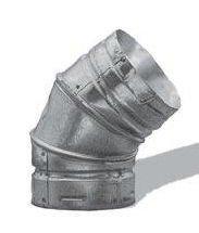 Simpson Duravent Gas Vent Adjustable Elbow 45 Degree 3 Galvanized Al Ul by DuraVent