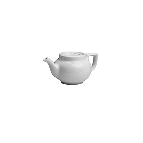 Hall China Bright White 8 Oz. Boston Teapot with Sunken Cover