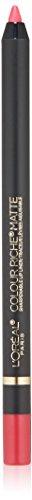 L'Oreal Paris Makeup Colour Riche Comfortable Creamy Matte Pencil Lip Liner, 108 Best Mattes, 0.04 oz.