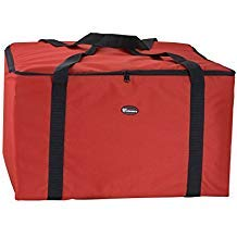 "Winco BGDV-22 Pizza Delivery Bag 22"" x 22"" x 13"" - Case of 6"