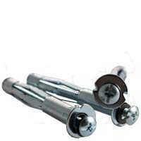 3/16 Inch Sx2 Inch Pan Head Phillips/Slot Combo Hollow Wall Anchor Zinc Cr+3 (600/Bulk Pkg.)