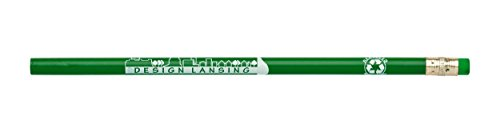 Pencil Guy Pencils Promotional Personalized Imprinted - Made from Recycled Newspaper and Cardboard -Green 144 to a Box- -
