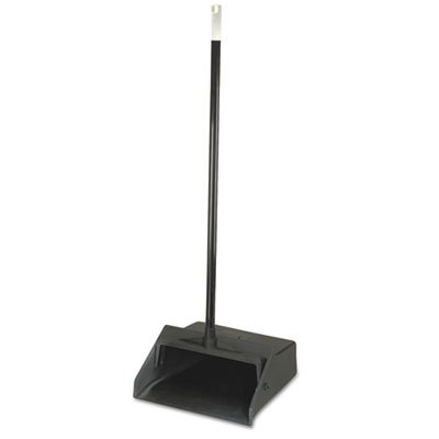 Carlisle 36141003 Duo-Pan 1-Piece Lobby Dust Pan with Metal Handle, 2.5 Foot Overall Height, Black