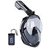 Upgraded Version 180° Full Face Snorkel Mask for Adults,Youth,Kids- Panoramic View Snorkeling Mask, Soft Adjustable Straps with Anti Fog and Anti Leak Design Snorkel Mask