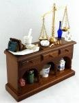 Melody Jane Dollhouse Pharmacists Table Reutter Porcelain Apothecary Chemist Furniture