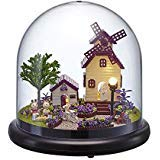 Flever Dollhouse Miniature DIY House Kit Creative Room With Furniture and Glass Cover for Romantic Artwork Gift( Perfect Provence )