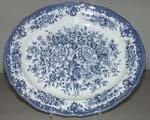 J G Meakin England (J & G Meakin England Royal Staffordshire Avondale Ironstone Blue Flowers Oval Serving Platter)