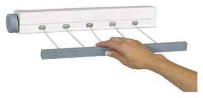 Household Essentials MD-61 5 Line Retractable Mini Clothesline Dryer by Household Essentials
