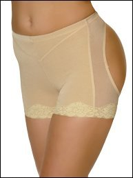 Rearview Miracle Shaper Girdle Butt Lift Panty, XXlarge, Nude