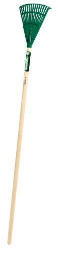 Truper 30465 Tru Tough 48-Inch Plastic Shrub Rake, 8-Inch Head, Wood Handle