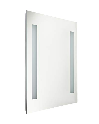 LEONLITE Fogless LED Illuminated Mirror Bathroom, UL-Listed Wall Mounted Backlit Mirror 32' x 24' with 2 Lighted Ring price tips cheap