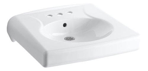 KOHLER K-1997-4-0 Brenham Wall-Mount Bathroom Sink with 4