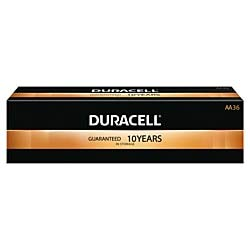 Duracell Coppertop Alkaline AA Batteries, Box of 36 Batteries by Duracell
