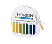 (Micro Essential Lab 334 Hydrion Short Range pH Test Paper Dispenser, 4.5 - 7.5 pH, Single Roll)