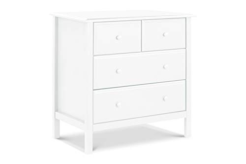 DaVinci Autumn 4-Drawer Dresser, KD, White (Davinci Kalani 3 Drawer Changer Dresser White)