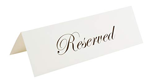 Place Cards - 60-Pack Large Tent Cards, Foldover Table Reserved Placecards, Seat Assignment for Wedding, Holiday Dinner, Restaurant Reservation, Laser and Inkjet Printer Friendly, 3.5 x 11 Inches ()