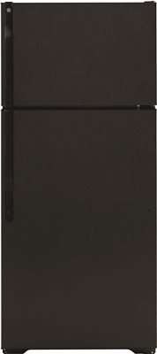 GE GTS16DTHBB 15.5 Cu. Ft. Black Top Freezer Refrigerator – Energy Star – Right Hinge
