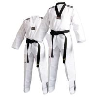 adi-club Taekwondo Uniform with Stripes B00MW3L2FU 5|white v-neck white v-neck 5