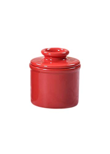 Butter Bell JB Original Crock by L. Tremain, Petit Collection-Holds 2.5 tablespoons of Butter, Red, 3x3x2.5,