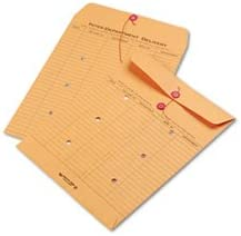 100//Carton 10 x 13 Brown Recycled Kraft String /& Button Interoffice Envelope