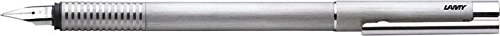 Fountain Pen Brushed Stainless Steel (Silver Logo Steel Nib Brushed Stainless Steel Fountain Pen by Lamy - Fine Nib)