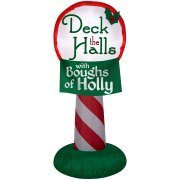Airblown Holiday Inflatable Deck the Halls with Boughs of Holly sign 3.5 ft tall