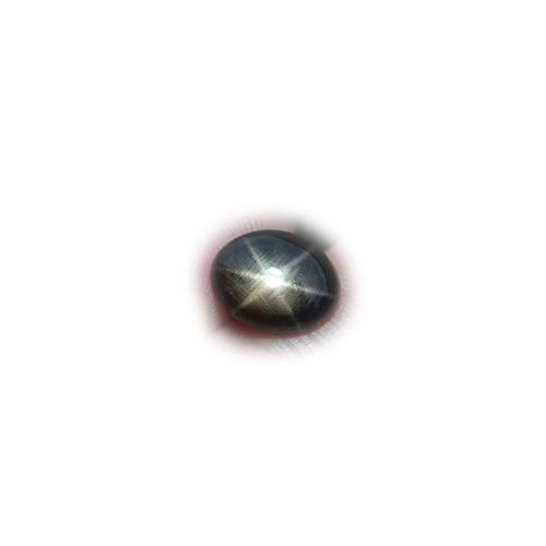 Lovemom AMAZLING 2.51ct Unheated Natural 6 Ray Black Stars Sapphire Thailand #AB by Lovemom