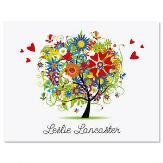 Love and Happiness Personalized Note Cards (Set of 12 Cards with White Envelopes)