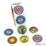 100 ANTI-BULLYING Stickers/Stand Up to Bullying/BE A BUDDY -NOT A BULLY/BULLY-FREE Starts with Me/ROLL of 100/SCOUTS/CLASSROOM/Religious Activities
