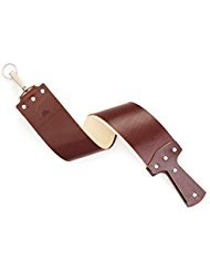 Ezra Arthur English Bridle Straight Razor Strop (Burgundy) by Bison