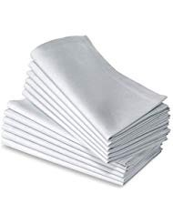 Cotton Dinner Napkins White - 12 Pack (20 inches x20inches) Soft & Comfortable - Expertly Tailored Edges - Durable Hotel Quality - Ideal for Events & Regular Home Use ()