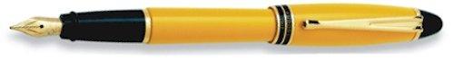 Aurora Ipsilon Resin Yellow Medium Point Fountain Pen - AU-B11Y-M