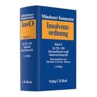 Münchener Kommentar zur Insolvenzordnung Bd. 3: §§ 270-359, Internationales Insolvenzrecht, Insolvenzsteuerrecht, Sachverzeichnis für die Bände 1-3