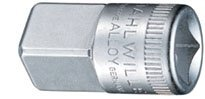 Stahlwille Adaptor (Stahlwille 432 Steel Adaptor, 3/8 Socket x 1/2 Plug, 17.2mm Diameter, 31mm Length by Stahlwille)