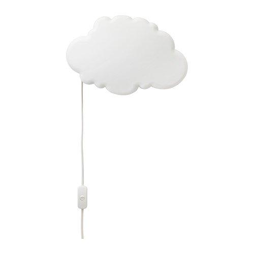 'Ikea–Bombilla decorativa drömsyn–Lámpara de pared en forma de Wolke–31x 21cm–Color Blanco–suave luz de ambiente I K E A