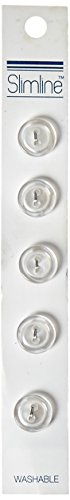 White 2 Hole Button - 5